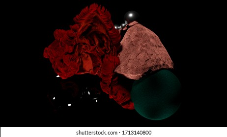 3D render abstract furry fabric