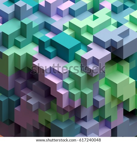 3d render abstract geometric