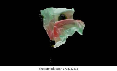 3D render abstract gradient flower