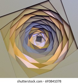 3d render, abstract paper background, diaphragm, layers, flat polygonal structures, hole, macro texture