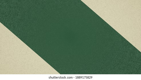3d render with an abstract rough background of oblique green and white stripes