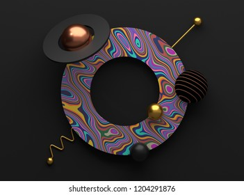 3D render of abstract shapes. Modern template or poster design. Illustration
