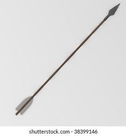 3d render of arrow ammunition