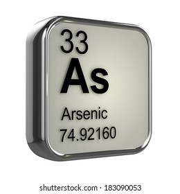 3d render of Arsenic element design