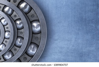 3d render Ball bearing (close-up)