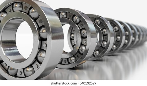 3d render ball bearing (depth of field)