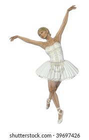 A 3D render of a ballet dancer, semi-transparent with skeleton.