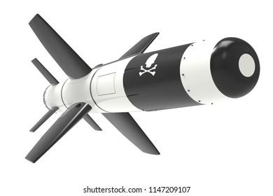 3d render of a ballistic missile