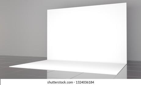 3d render banner 2x3 meters. Realistic. Backdrop. Mockup.