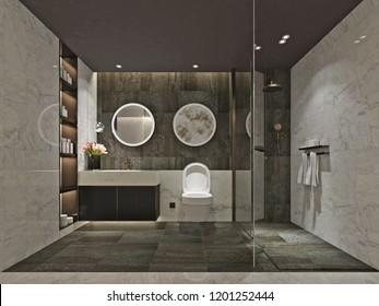 3D Render Bathroom