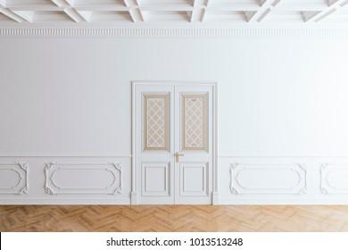 3d render of beautiful clean vintage interior