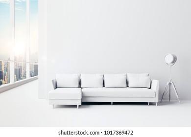 3d render of beautiful interior living  design