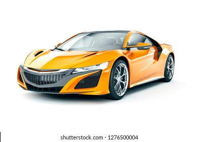 3d render of beautiful super sport car