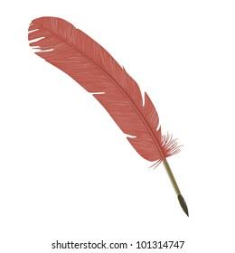 3d render of bird quill
