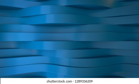 3d render blu elegant background with abstract  waves line effect