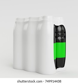 3D Render Bottle Shrink illustration