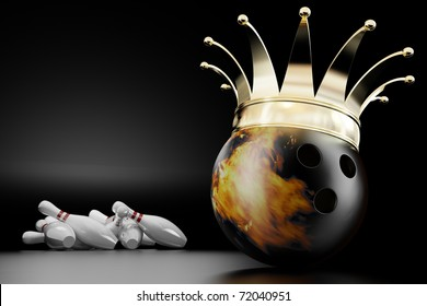 3d render of the bowling ball king