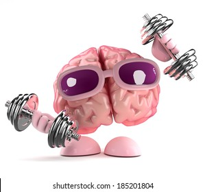 3d render of a brain working out