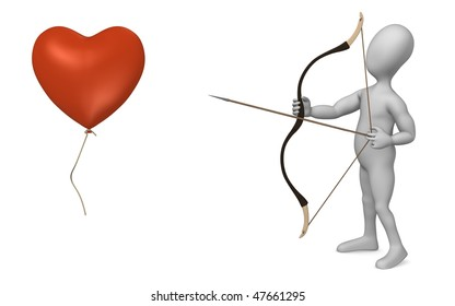3d render of cartoon character with bow and arrow