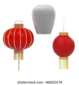 3d render of Chinese Lanterns