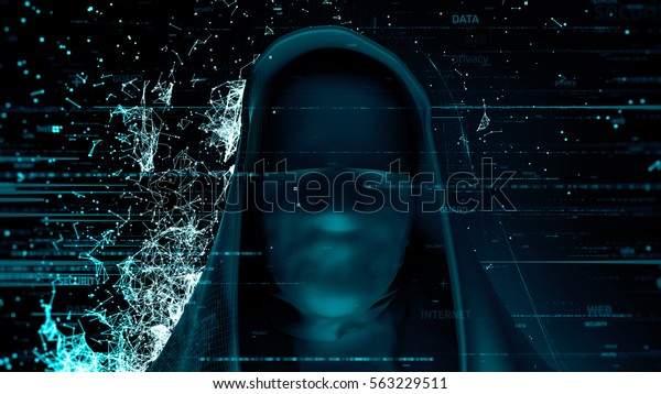 3d Render Computer Theme Background Anonymous Stock