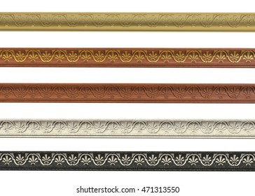 3d render of cornices with ornament on a white background