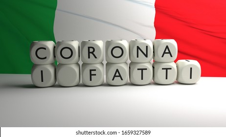 3D render - CORONA I FATTI - Corona virus or covid-19 in Italy