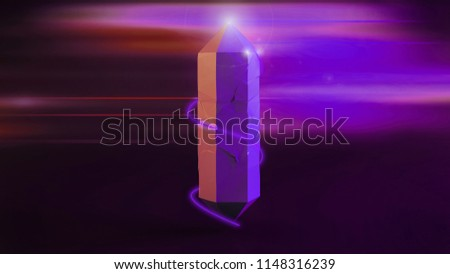 3 D Render Digital Illustration Abstract Purple Stock Illustration