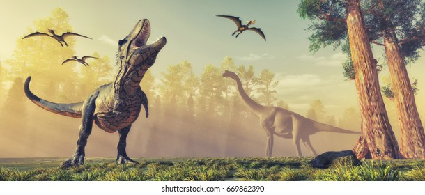 3d render dinosaur. This is a 3d render illustration.
