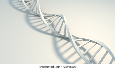 3d render, DNA isolated on white background, element