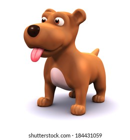 3d render of a dog with his tongue hanging out