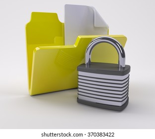 3D Render of Doucment Security Icon