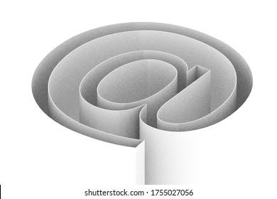 3d render e-mail sign illustration