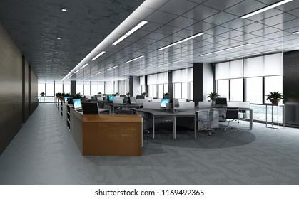 3d render of empty working space