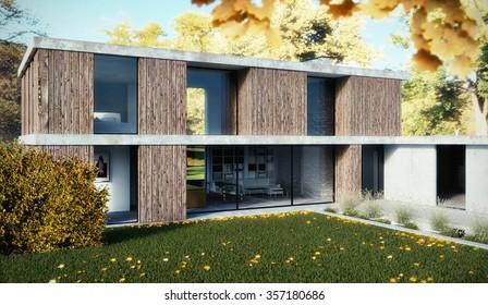 3D render - Family home