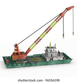 3d render of floating crane