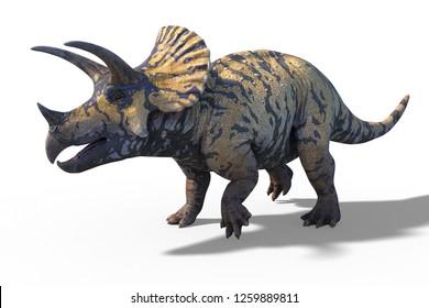 3d render of a giant prehistoric dinosaur Triceratops