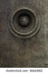 3d render grunge old speaker sound system deejay DJ