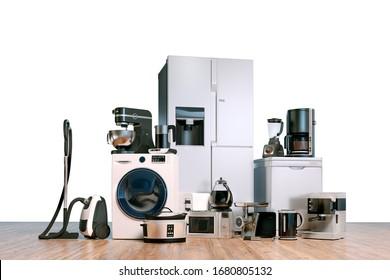 3d procesamiento del conjunto de recopilación de aparatos domésticos