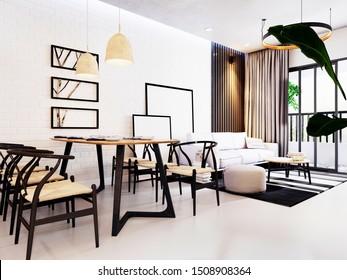 3d render of home interior