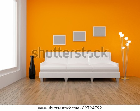 3 D Render Home Interior High Resolution Stock Illustration