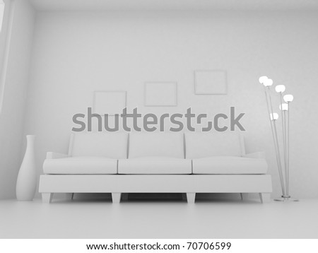 Royalty Free Stock Illustration Of 3 D Render Home Interior High