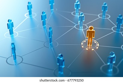 3d render human social network and leadership as concept.You need resource.