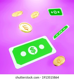 3d render image of coin stack. saving money financial goal concept.