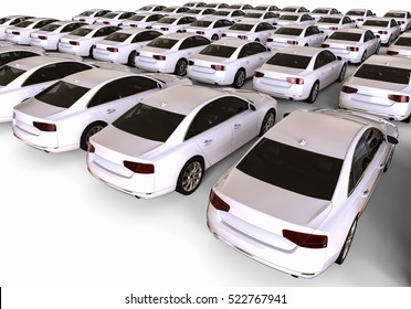 3D render image representing a fleet of cars / cars fleet
