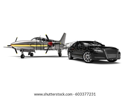 3 D Render Image Representing Private Propeller Stock Illustration