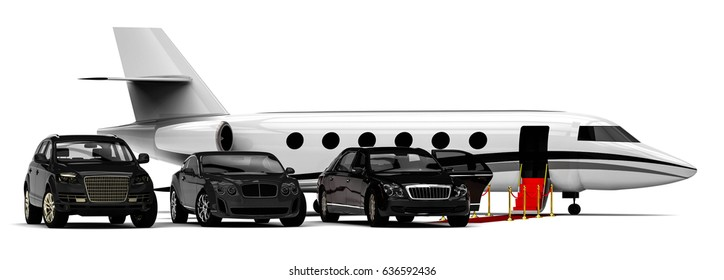 3D render image representing a rich people transportation vehicles / Rich People Rides