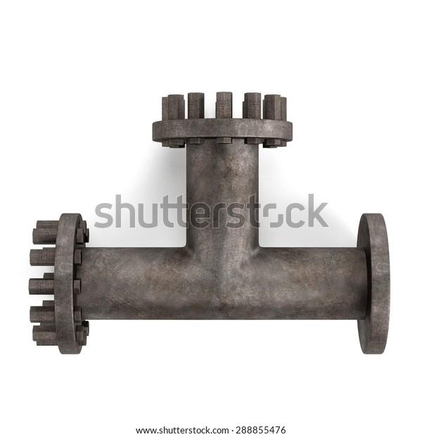 3d Render Industrial Pipe Stock Illustration 288855476