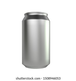 3d render isolated soda can mockup