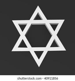 3d render of jewish symbol